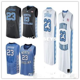 Cheap custom Michael 23 North Carolina Tar Heels Black White Blue NCAA High-School  Basketball jersey Free shipping 94332216d