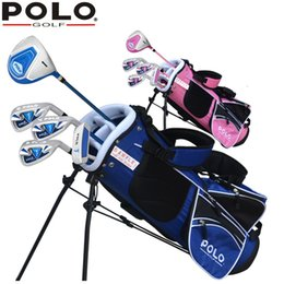 hand bags sets NZ - Brand POLO 5-pieces Junior Boys Girls Children Child Kids Golf Clubs Set with Bag Graphite Shaft