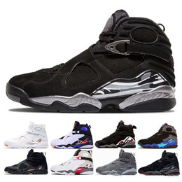 631fd66d8a2220 Free shipping 8 black Chrome men Basketball shoes Aqua Playoffs countdown  pack Three Peat Bred 8s mens sports shoes trainer Sneakers us 8-13