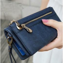 $enCountryForm.capitalKeyWord NZ - Leather Women Wallets Famous Brand Fashion Double Zipper Diamond lattice Ladies Clutch Bag High Quality Standard Wallets