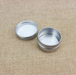 aluminum packaging for cosmetics NZ - Wholesale brand new 15g cosmetic aluminum jar 15ml metal tin for cream packaging container hot sale