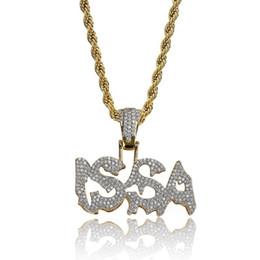 $enCountryForm.capitalKeyWord UK - Hip Hop ISSA Diamond Custom Name Combination Bubble Letter Pendant Necklace Micro Cubic Zirconia Gold Color Copper Pendant Necklace