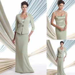 $enCountryForm.capitalKeyWord NZ - Elegant Mother of The Bride Dresses Wedding Guest Dresses Strapless with Coat Sweetheart Tea Lenght Lace Wedding Events Evening Dresses 444