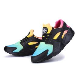 2017 мода Huarache ультра повседневная обувь Huaraches Радуга ультра удобная обувь мужчины женщины Huraches многоцветный Повседневная обувь SizeEUR36-46