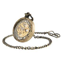 $enCountryForm.capitalKeyWord UK - Top Gifts Luxury Transparent Skeleton Hollow Mechanical Watch Retro Hand Winding Analog Pocket Watch for Men Women Antique Style