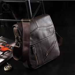cheap bag hot 2019 - KUJING Leather Men's Bag High-grade Business Clutch Men Shoulder Messenger Bag Hot Cheap Multi-functional Casual Le