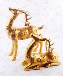 $enCountryForm.capitalKeyWord Australia - Resin Deer Statue Vintage Design Deers Living Room Bedroom Wine Cabinet Ornaments Creative Wedding Gifts for Friends