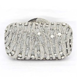 diamante crystal clutch evening bag NZ - Stylish Red Women Rhinestone Evening Bag Luxury Crystal Studded Diamante Designer Clutches Evening Party Purse Ladies Clutch Bag
