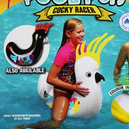 Wholesale inflatable pool floats animal online shopping - Animals Swim Ring Air Inflatable Floats Swimming Pool Decoration Summer Holiday Toys For Children Fashion Hot Sale LJJN36