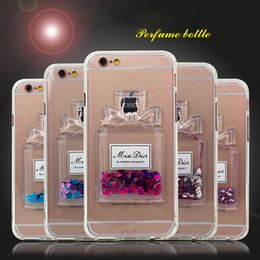 $enCountryForm.capitalKeyWord NZ - Glitter Star Quicksand Case Liquid Dynamic Prefume Bottle Soft Clear Case For iPhone 5s SE 6 6s plus iPhone 7 7plus