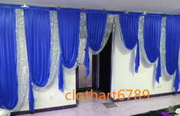 Discount draping for wedding backdrop 3M high*6m wide designs wedding stylist swags for backdrop Party Curtain Celebration Stage backdrop drapes
