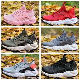 Cool Rubbers Canada - Luxury Huarache 4.0 Run Ultra Running shoes Men Women cool grey Gym red sumit white Sneakers US 5.5-11