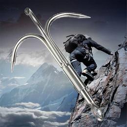 бесплатная доставка открытый 3 когти борется крюк восхождение выживания карабин инструмент портативный борется крюк Коготь нержавеющей стали альпинизм