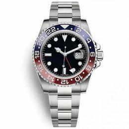 2019 новый GMT II роскошные часы качества мужские часы 2813 автоматические механические часы 30 метров сапфир водонепроницаемые наручные часы на Распродаже