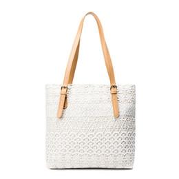$enCountryForm.capitalKeyWord NZ - New Fashion Ladies White Black Lace Handbags Tote Women Feminine Shoulder Bag Shopping Bags For Girls Female Vintage Handbag