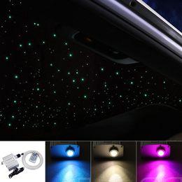 $enCountryForm.capitalKeyWord Australia - Car use 10W Twinkle RGBW LED Fiber optic star ceiling lights kit 150 200pcs 0.75mm 2M optical fiber light engine +28Key