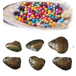 $enCountryForm.capitalKeyWord Australia - Natural round Pearl 6-7mm Fresh water Oyster Shell More New color bithday party surprise dad mum sister brother family gift free shipping