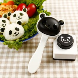 bento tools 2019 - Lovely Panda Easy Sushi Mold Maker DIY Onigiri Rice Ball Seaweed Kitchen Tools Bento Accessories Cute High Quality cheap