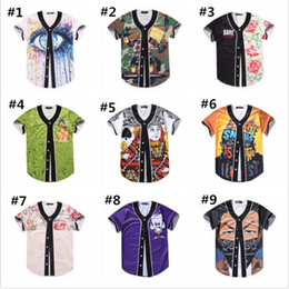 Wholesale couples baseball cardigan online – oversize High quality big size Short cardigan for summer baseball sweater printing design T shirt with short sleeves couples coat