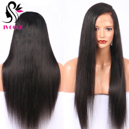 gluless human hair lace wig NZ - Long Silky Straight Gluless Full Lace Wigs Virgin Brazilian Unprocessed Remy Straight Human Hair Lace Front Wig with Baby Hair