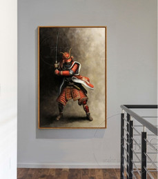 $enCountryForm.capitalKeyWord NZ - Handpainted & HD Print Impressionist Art Oil Painting Japanese Samurai On Canvas,Wall Art Home Decor Multi Sizes  Frame Options a260