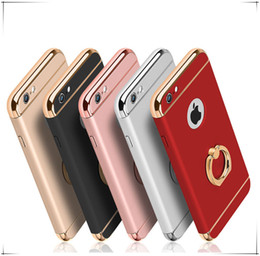 Iphone Plate Metal Case Australia - Non Slip Matte Electroplate Frame Plating Skin Case Cover with Metal Ring Holder Stand for IPhone X XS 8 7 Plus 6 6S 7plus Luxury Designer