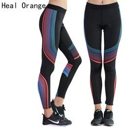 Sex Yoga Pants UK - HEAL ORANGE Sex Elastic Waist Stretched Sports Pants Gym Clothes Spandex Running Tights Women Sports Leggings Fitness Yoga Pants