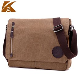 vintage military canvas shoulder bag Australia - KVKY Men's Vintage Canvas Messenger Bags Casual Military Satchel Shoulder Bag Travel Handbag Business Crossbody School Bag B301