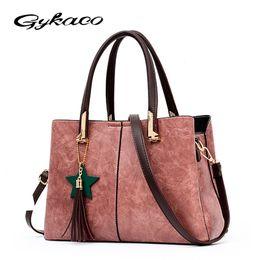 Multi Color Ladies Handbags Australia - Gykaeo Luxury Handbags Women Bags Designer Brand Casual Shoulder Bag Ladies Street Tote Bags Sac A Main Femme Famous Tote Bag