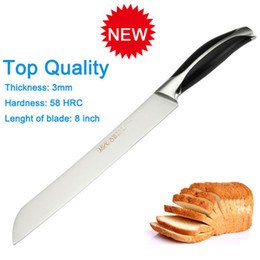 Wholesale D085 Brand new stainless steel Cr17 top quality inch kitchen bread knife kitchen meat knife