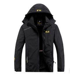 China Coat Xl Canada - Spring Autumn Casual Jacket Men Sportswear Breathable Waterproof Windbreaker Hooded Coat China Size L to 4XL