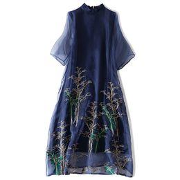 93296457ca Silk Dressing Gowns Ladies UK - Popular Silk Lady Dress Chinese Style Three  Quarter Sleeve Women