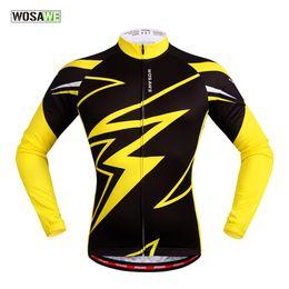 Bike clothing for women online shopping - WOSAWE bike pro team women men yellow polyester Tops long sleeve bike clothing MTB mountain bike Summer style For Spring Autumn