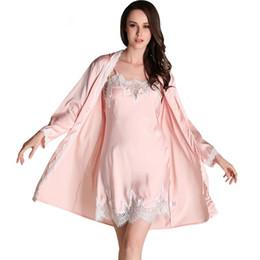 e66c9e01c7 New Women Bridesmaid Robe   Gown Sets Sexy Lace Robe Women s Sleepwear Sleep  Suits Women Luxury Pijamas Fashion Nightwear