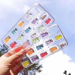 $enCountryForm.capitalKeyWord Australia - 3D Cute Candy Bears Epoxy soft shell For iphone X 6 6s 6plus 7 7Plus 8 8plus Phone case Clear Glitter back cover Capa