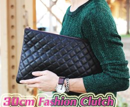 $enCountryForm.capitalKeyWord NZ - Good Price Genuine Leather zipper Clutch 30cm Black Caviar Leather Clutch Bag Lambskin Boy Hand Bag Brand Design Handbags