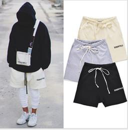 Hommes High Street taille élastique Shorts Pantalon Femmes Hip Hop Essentials Imprimer Peur de Dieu Pantalon Lovers Cutton Couleur unie Pantalon Casual en Solde