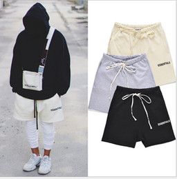 Venta al por mayor de Para hombre de la calle principal elástico de la cintura de los pantalones cortos de las mujeres Hip Hop Fundamentos de impresión Pantalones amantes cutton sólidos pantalones casuales de color