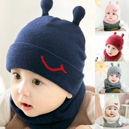 6d335e5cd9d Cute Toddler Kids Baby Winter Warm Crochet Knit Hat Beanie Cap and Scarf