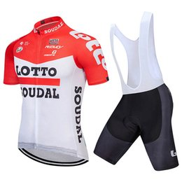 792324258 Pro Team LOTTO Cycling Clothing Ropa Ciclismo 2018 Summer Cycling Jerseys  Set quick dry Short Sleeves racing Bike Clothes Sportswear K92021