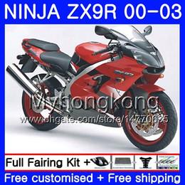 $enCountryForm.capitalKeyWord UK - Body For KAWASAKI NINJA ZX 9R 9 R ZX 900 ZX9R 00 01 02 03 216HM.24 ZX900 900CC ZX9 R ZX-9R 2000 2001 2002 2003 Factory red hot Fairing Kit
