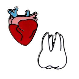 $enCountryForm.capitalKeyWord Australia - 2017 New irls Creative New Eartoon Brooch Heart Teeth Corsage Elegant With Fashion Bag Shirt Accessories Wholesale Gift