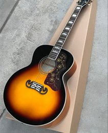 Quality guitar brands online shopping - New Arrival Quality AAA quot Custom Shop Sunburst Acoustic Electric Guitar Fishman Can be Installed Spurce Top Maple Back Sides
