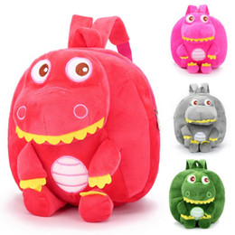 coolest backpacks NZ - New Cool Dinosaur Plush Backpacks For Boys Dolls Stuffed Toys Soft Children Backpack Mochila School Bags