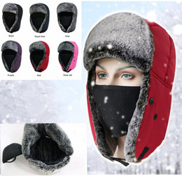 Winter Trapper Hats Thicken with Ear Flaps Ushanka Aviator Russian Hat  Winter Outdoor Warm Hat Skiing Sport Windproof cap MMA1096 8c1f3c91a2d2