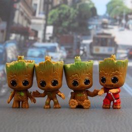 Discount car actions - 4Pcs set Action Figures Guardians of The Galaxy Toy Figures Birthday Gift Toysand The Car Decoration Toy AAA363
