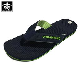 77f877982 URBANFIND Breathable Light Men Casual Summer Slippers Big Size 41-46 Man  Leisure Flip Flops For Beach Home Blue Brown