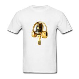 dff99a57 Purple Microphones UK - Funny Shirt Designs O-Neck Short Golden Microphone  Cotton Mens Shirts