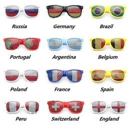 Discount fan goggle - 2018 World Cup Football Festival Fans Sunglasses For National Flag Bar Party Fans Sunglasses Athletic & Outdoor eyewear