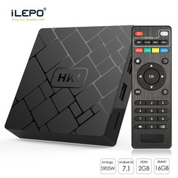 cheap android player NZ - HK1 Cheap Android TV BOX OTT Boxes Amlogic S905W 2GB 16GB Quad Core 2.4GHz Wifi 100M LAN Android 7.1 Streaming Media Player